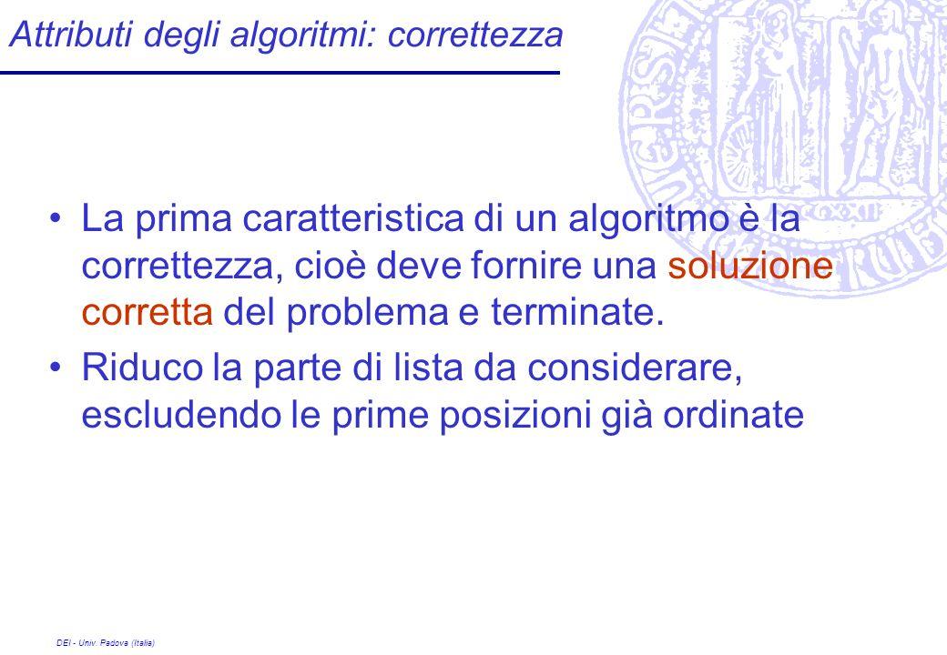 Attributi degli algoritmi: correttezza
