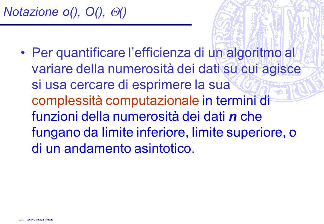 Notazione o(), O(), Q()