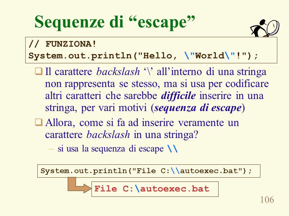 Sequenze di escape