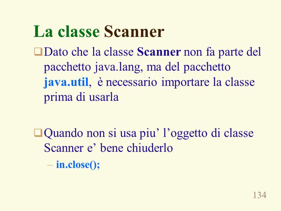 La classe Scanner