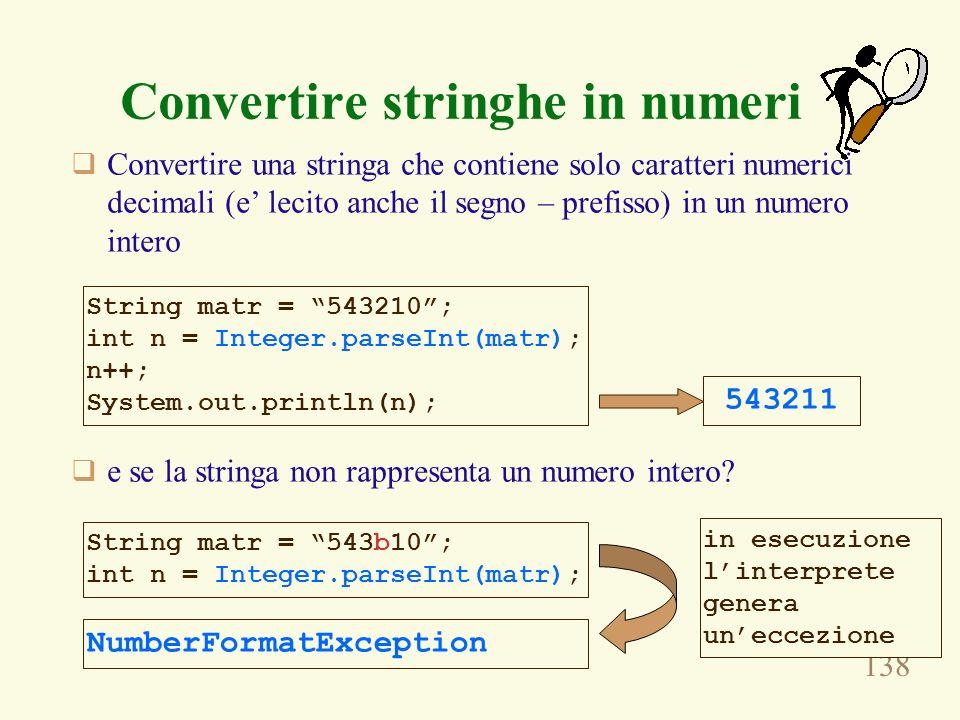 Convertire stringhe in numeri