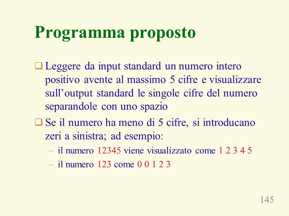 Programma proposto