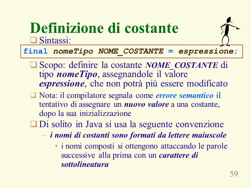 Definizione di costante