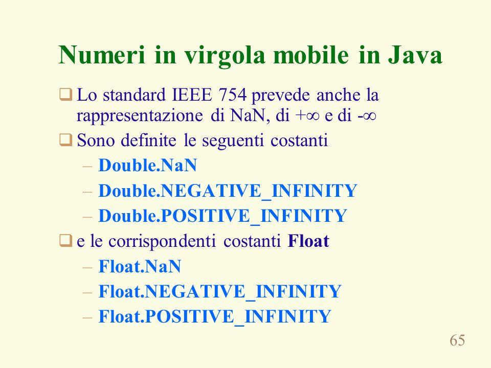 Numeri in virgola mobile in Java