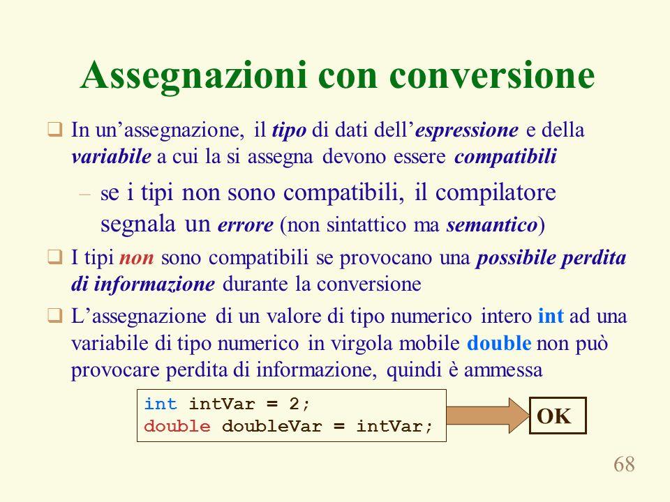 Assegnazioni con conversione