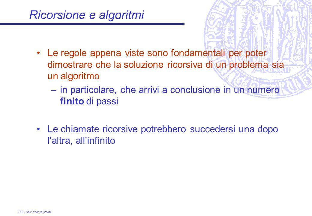 Ricorsione e algoritmi