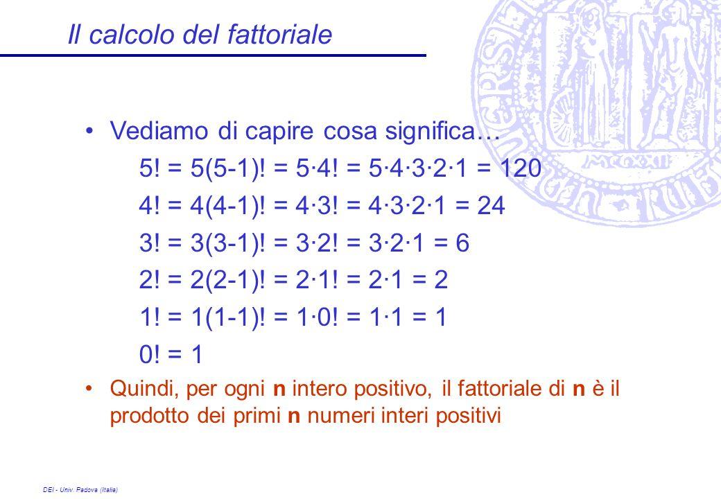 Il calcolo del fattoriale