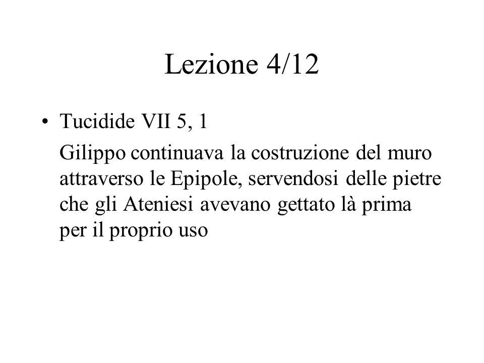 Lezione 4/12 Tucidide VII 5, 1.
