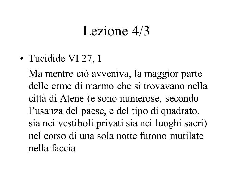 Lezione 4/3 Tucidide VI 27, 1.