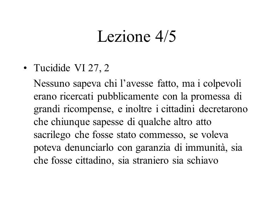 Lezione 4/5 Tucidide VI 27, 2.