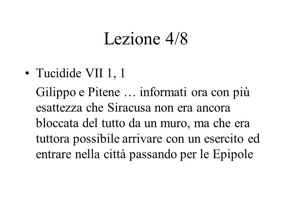 Lezione 4/8 Tucidide VII 1, 1.