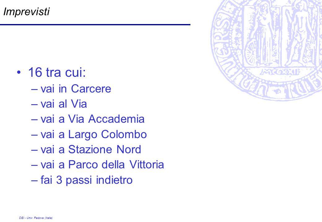 16 tra cui: vai in Carcere vai al Via vai a Via Accademia