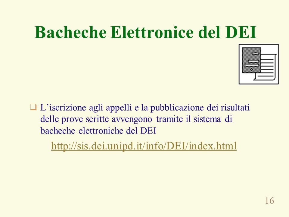 Bacheche Elettronice del DEI