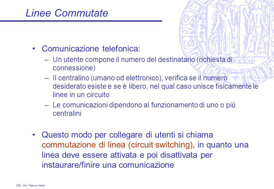 Linee Commutate Comunicazione telefonica: