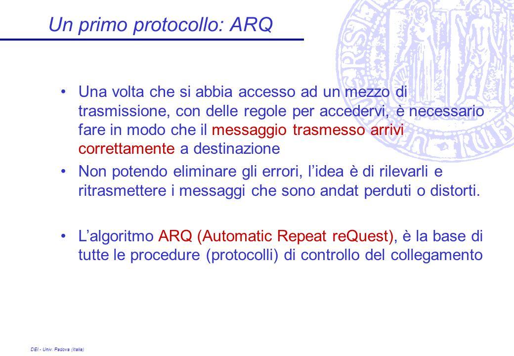 Un primo protocollo: ARQ