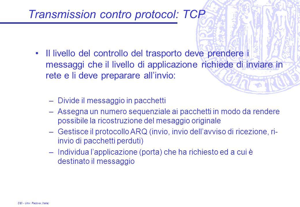 Transmission contro protocol: TCP