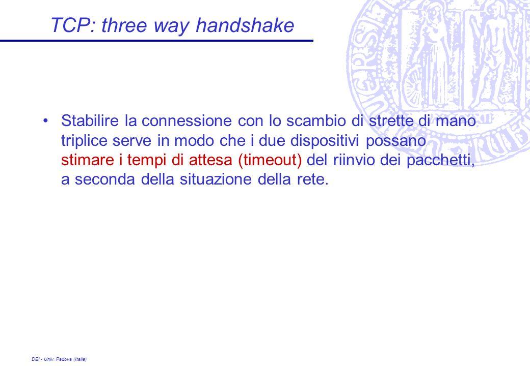 TCP: three way handshake