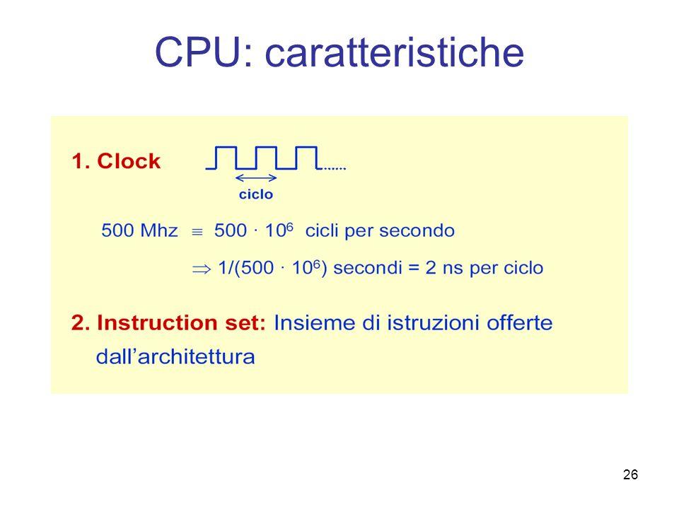 CPU: caratteristiche