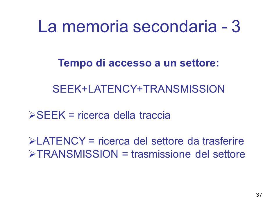 La memoria secondaria - 3
