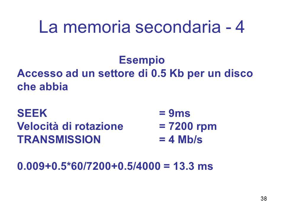 La memoria secondaria - 4
