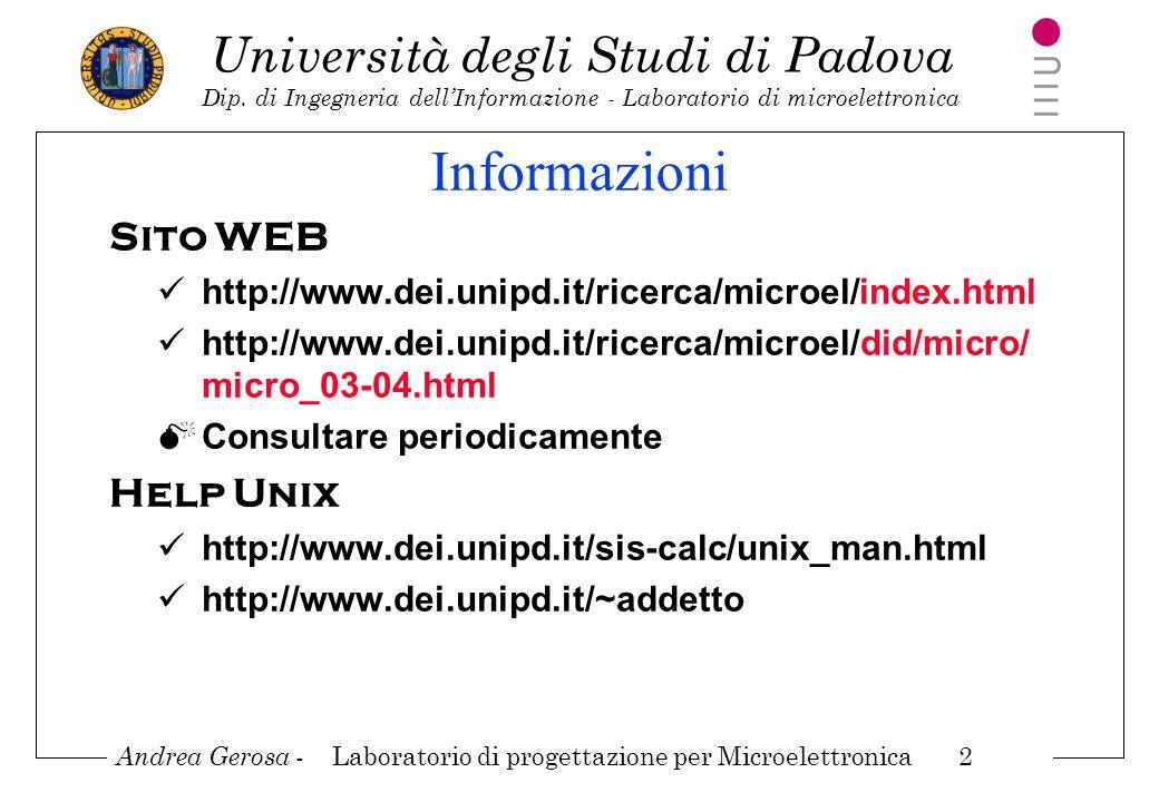 Informazioni Sito WEB Help Unix