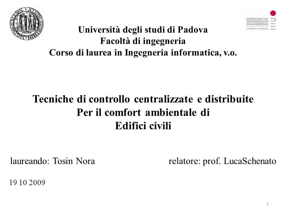 Tecniche di controllo centralizzate e distribuite