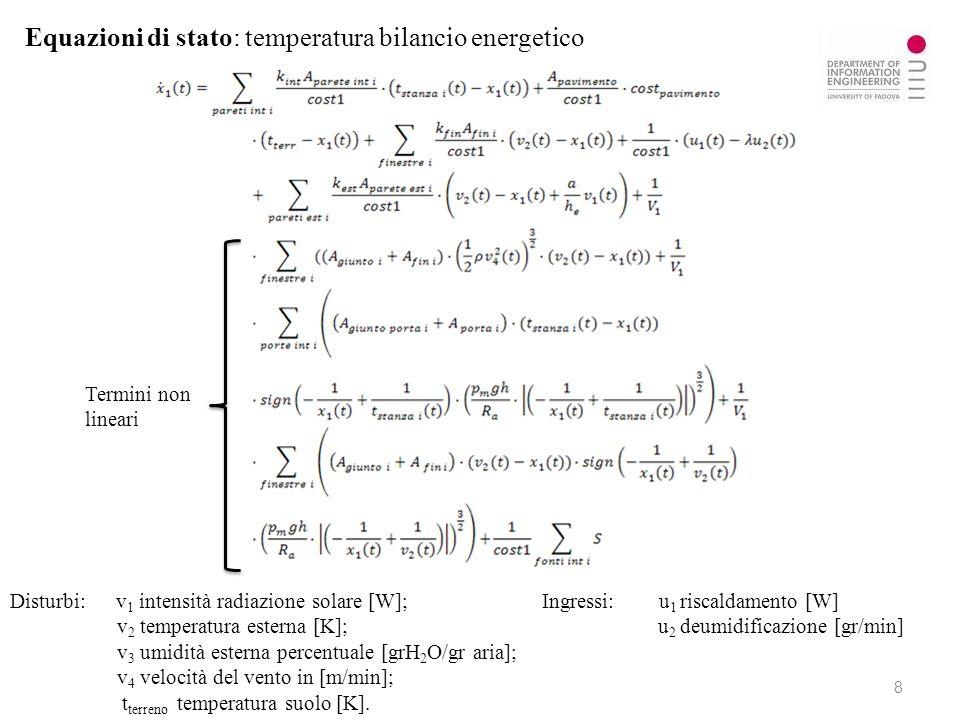 Equazioni di stato: temperatura bilancio energetico