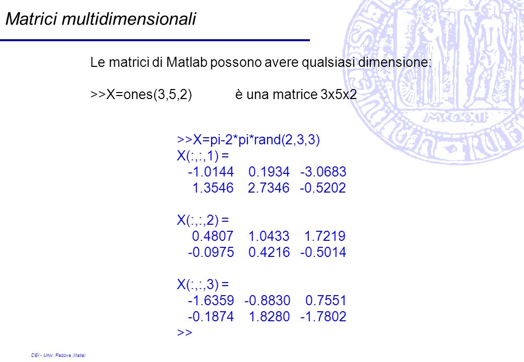 Matrici multidimensionali