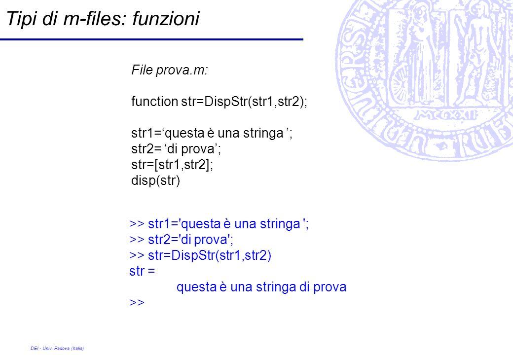 Tipi di m-files: funzioni