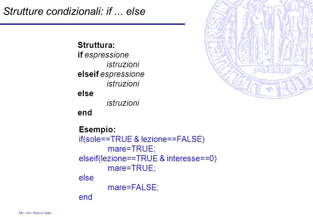 Strutture condizionali: if ... else