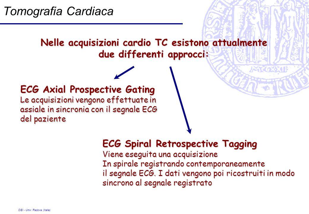 Tomografia Cardiaca Nelle acquisizioni cardio TC esistono attualmente