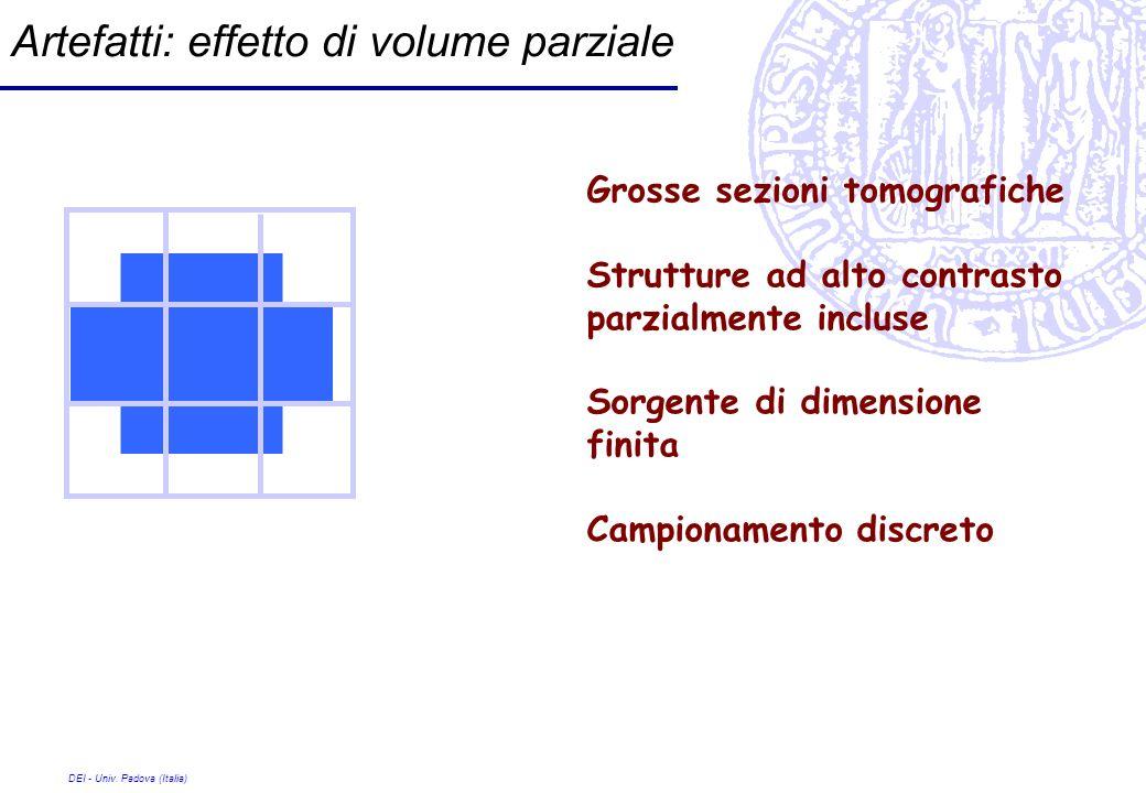 Artefatti: effetto di volume parziale