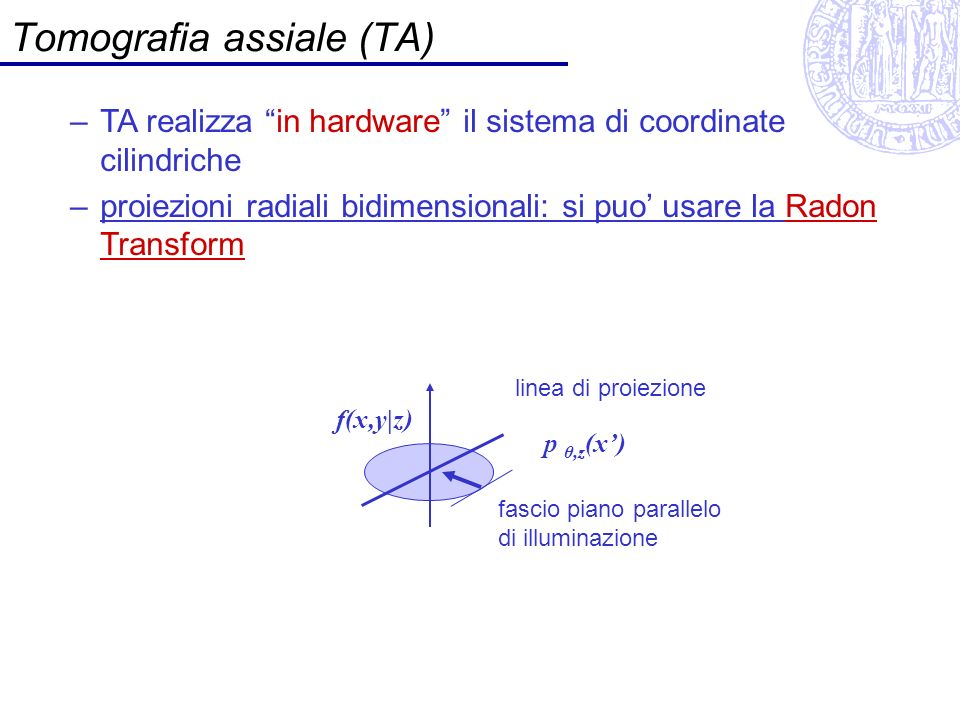 Tomografia assiale (TA)