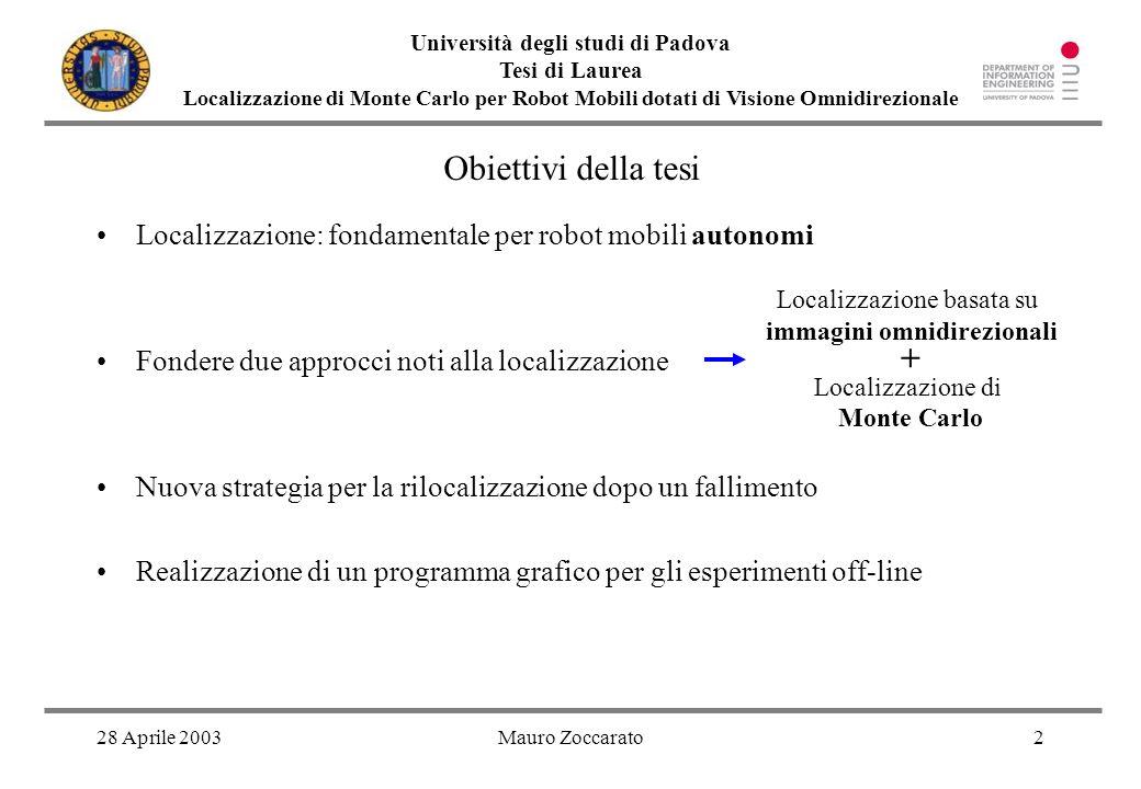 Università degli studi di Padova immagini omnidirezionali