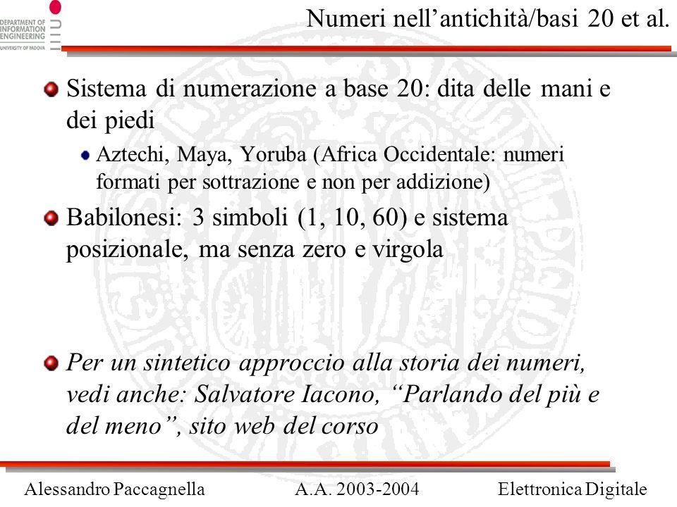 Numeri nell'antichità/basi 20 et al.