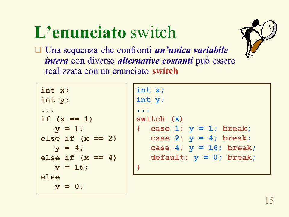 L'enunciato switch