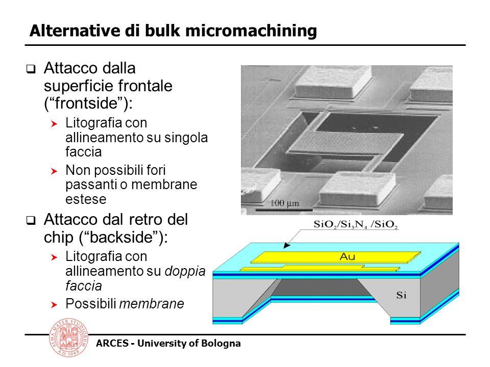 Alternative di bulk micromachining