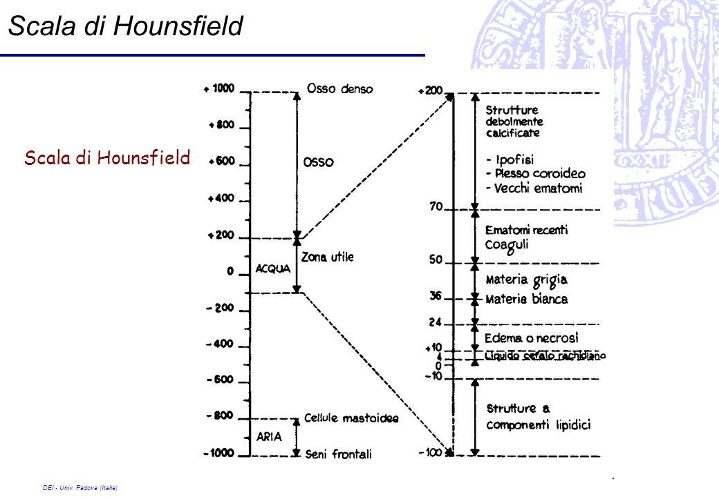 Scala di Hounsfield Scala di Hounsfield DEI - Univ. Padova (Italia)