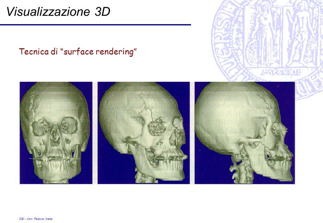 Visualizzazione 3D Tecnica di surface rendering