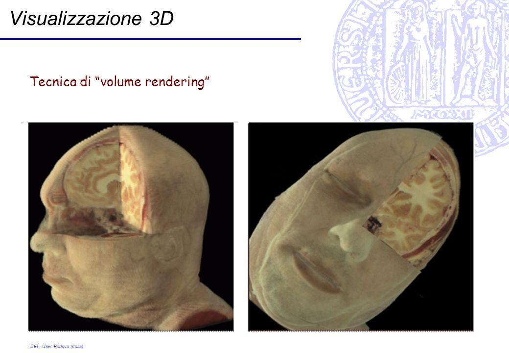 Visualizzazione 3D Tecnica di volume rendering