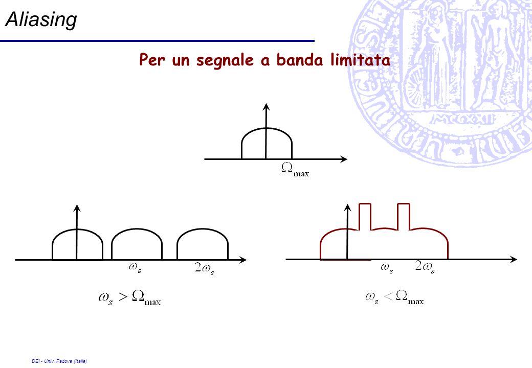 Aliasing Per un segnale a banda limitata DEI - Univ. Padova (Italia)
