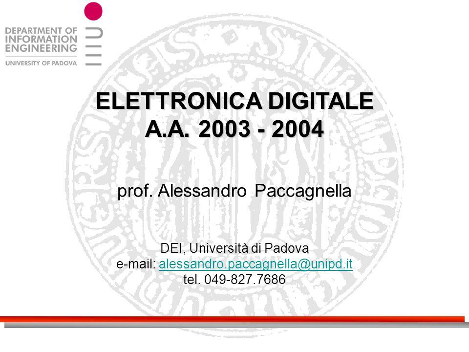 ELETTRONICA DIGITALE A.A. 2003 - 2004