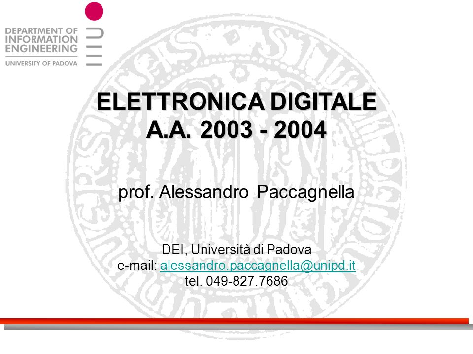 ELETTRONICA DIGITALE A.A