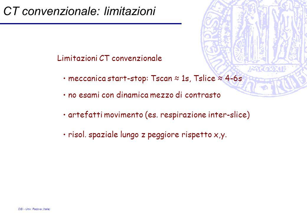 CT convenzionale: limitazioni