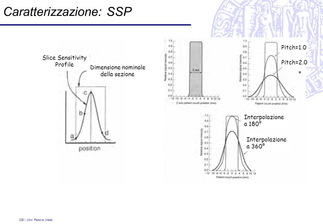 Caratterizzazione: SSP
