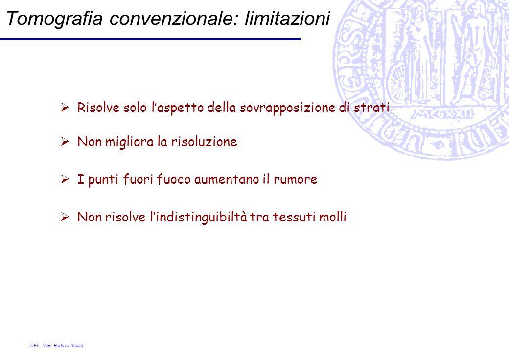 Tomografia convenzionale: limitazioni