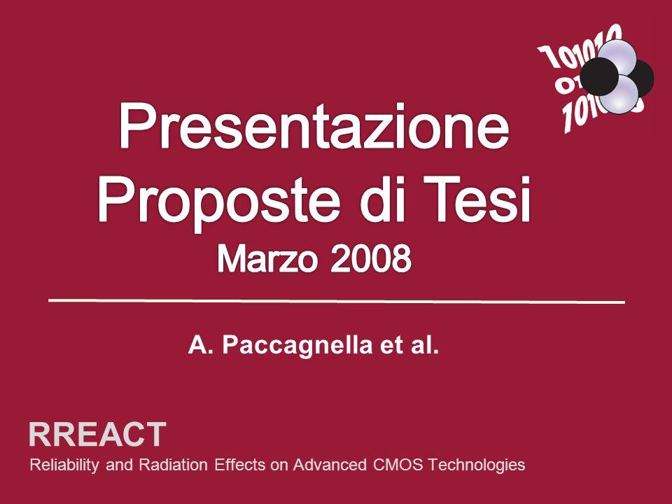 Presentazione Proposte di Tesi