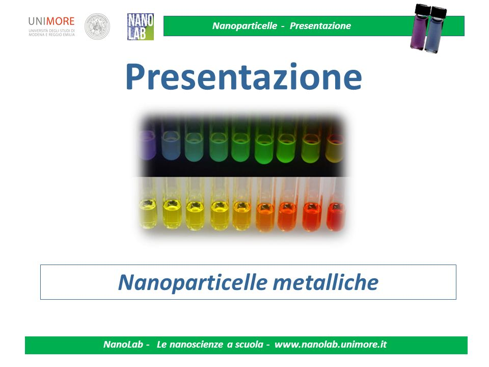 Nanoparticelle metalliche