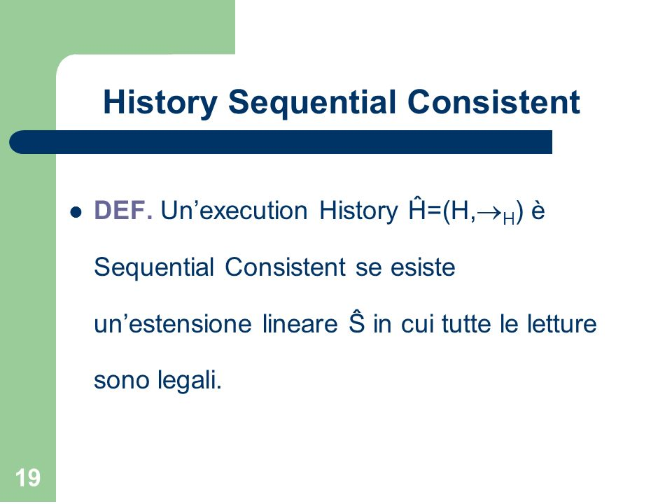 History Sequential Consistent