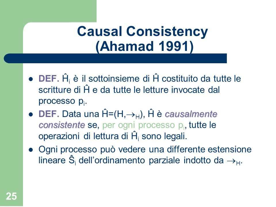 Causal Consistency (Ahamad 1991)